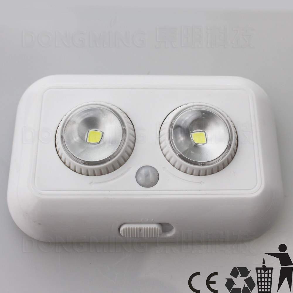 6pcs/lot pir motion infrared sensor light human body AUTO sensing lamp for indoor use emergency night light 3*AAA Battery