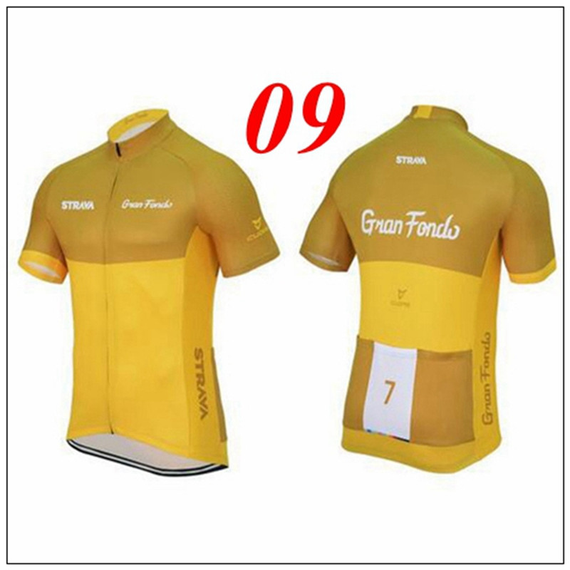 strava 2018 Team Cycling Jersey Short Bike Clothes Ropa Ciclismo Men Bicicleta Bicycle Mtb Road Riding Kit Wear Maillot #A36