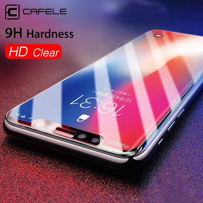 Cafele Screen Protector for iPhone X Tempered Glass 3D HD Clear Anti-blue Fingerprint proof