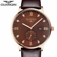 Thời trang đồng hồ men luxury hiệu analog thể thao xem Top chất lượng kim cương quartz quân watch men vòng đeo tay bằng da đồng hồ nam