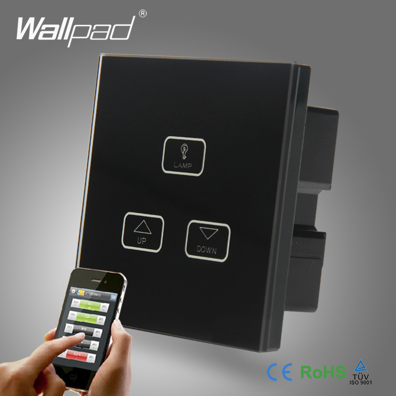 2pcs 3 Gang 2 3 4 Way Wifi Dimmer Switch Wallpad Black Glass Wireles WIFI Remote