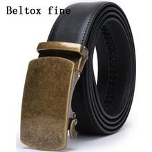 все цены на Men's Solid Buckle with Automatic Ratchet Leather Belt 35mm Wide 1 3/8 Classic Designer Belts онлайн