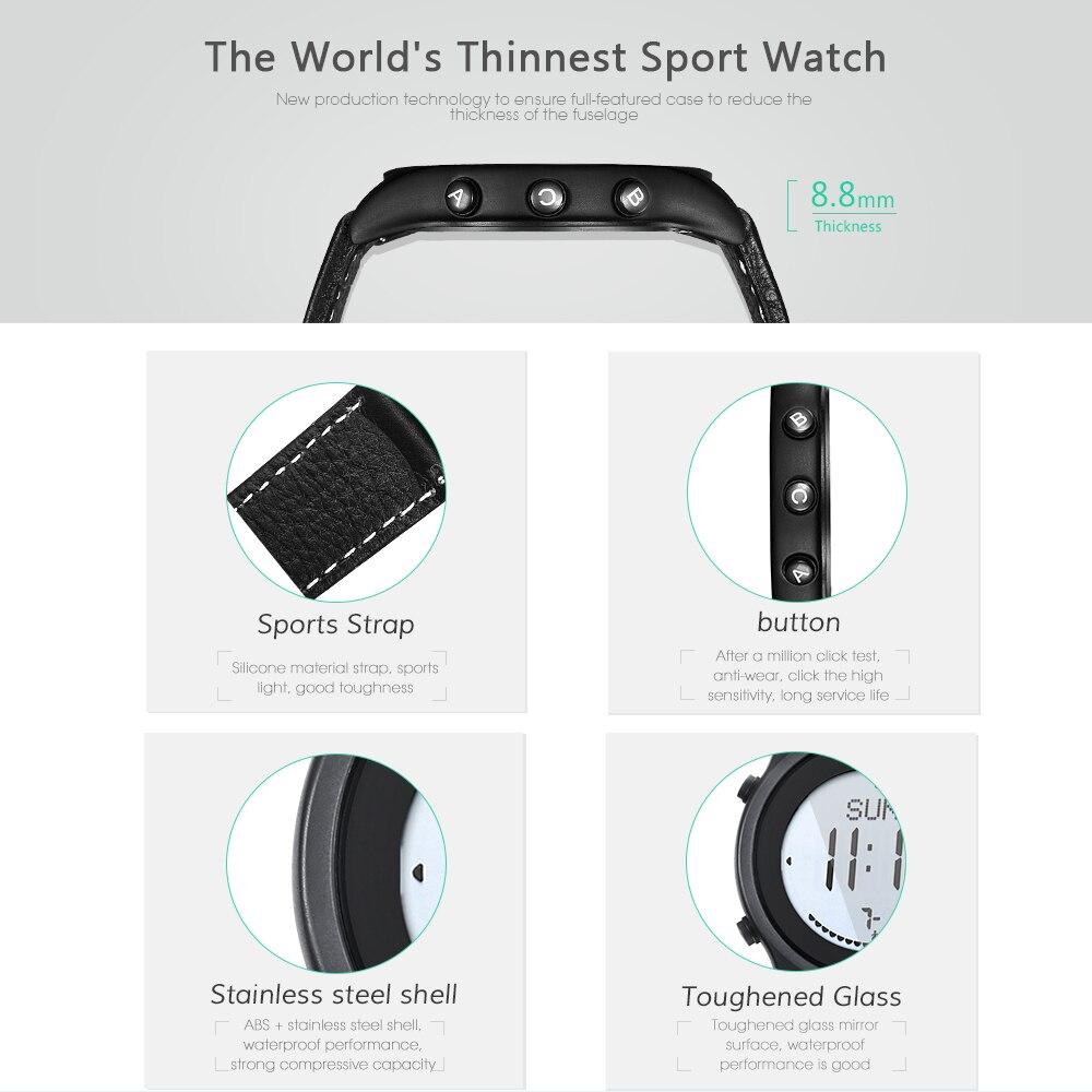 10 estilos SPOVAN 70g Ultra delgado deporte negocios reloj para hombres mujeres cuero genuino silicona correa de reloj, más allá de la correa de regalo-in Relojes de mujer from Relojes de pulsera    3