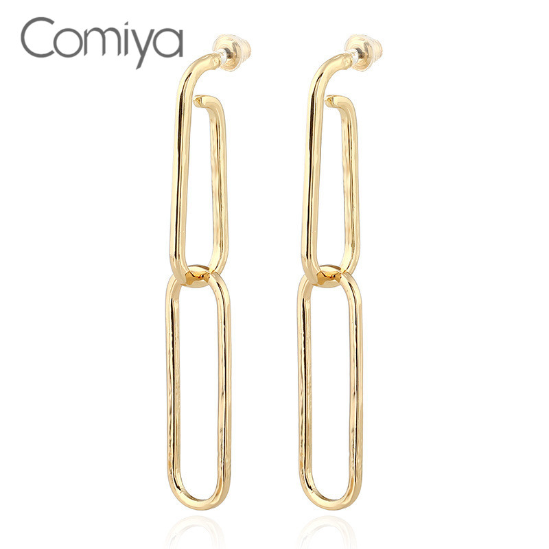 Comiya Brand New Chain De Festa Earrings For Women Zinc Alloy ...