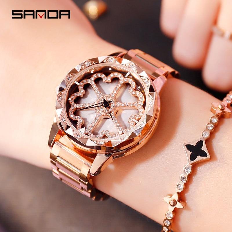 New Luxury Brand Women Watches Fashion Ladies Dress Clock Stainless Steel Design Female Wristwatch Dropshipping Relogio Feminino