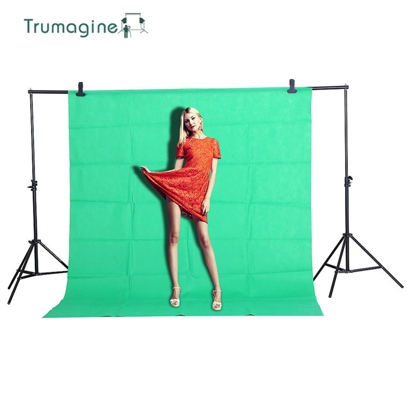 1 6X2M 5 2X6 5ft Shooting Green Screen Photo Background Backdrops Non woven Fabric Photography Studio Chromakey Fotografia Cloth in Background from Consumer Electronics