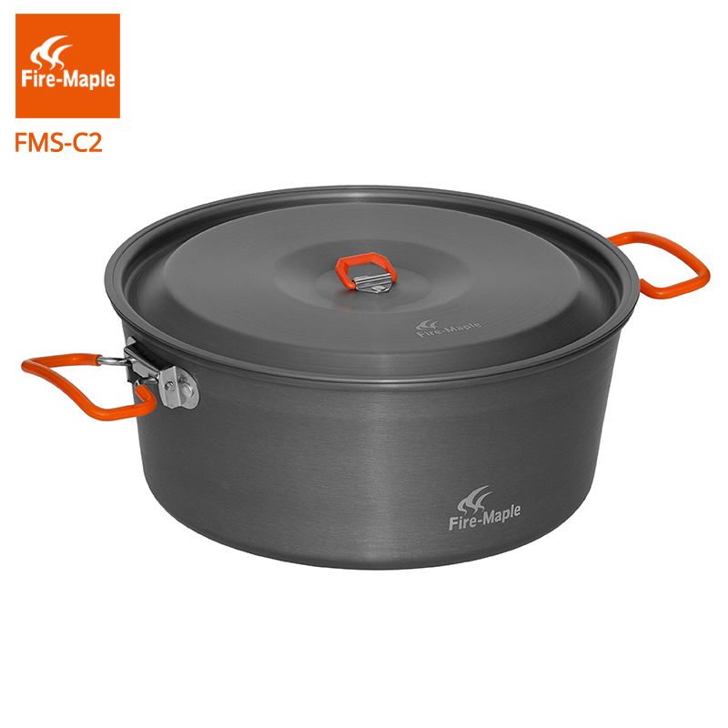 Fire-Maple Feast cook 4.4L Portable Pot Outdoor Camping Cooking Picnic Cookware Fire flat pan 700g FMC-C2