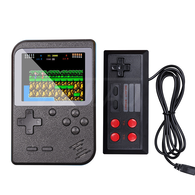 Retro Portable Mini Game Console 8-Bit Color LCD Screen Built-in 400 Games Kid Video Dual Handheld Game Player on TV 2 Players
