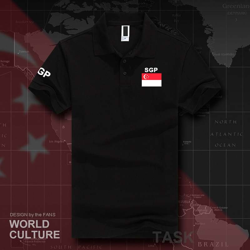 Singapore Polo Shirts Men Short Sleeve White Brands Printed For Country 2017 Nation Team Flag Singaporean SG Singapura SGP