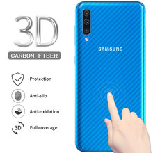 5Pcs Full Cover Screen Protector For Samsung Galaxy A50 Soft Carbon Fiber Back Film (Not Tempered Glass)