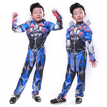 Optimus Prime cosplay Halloween Childrens Muscle Costumes Fantasy Cosplay Costume Comic Movie Carnival Party Purim