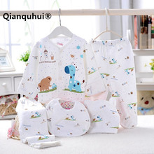 5 pcs / set Baby Newborn Set 0-3 M Cute Baby Giraffe Baby Clothing Set Boy Girl 100% Cotton Cartoon Underwear Kids Clothes