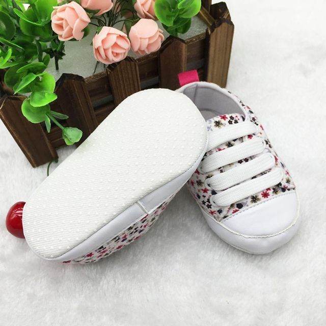 2017 Toddler Kids Casual Lace-Up Sneaker Soft Soled Baby Crib Shoes First Walkers 0-18M Hot Selling 4