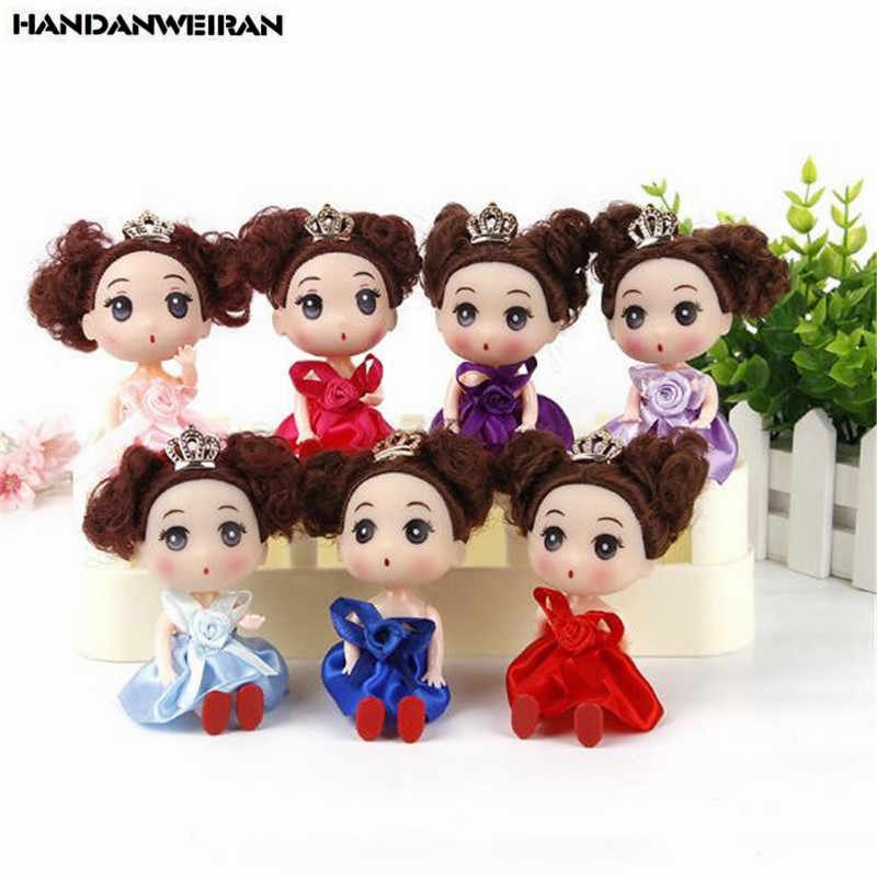 1PCS Cute Crown Confused Doll Toy Girl Gift Mini Silicone Dolls Small Pendant  Fashion Valentine Toys For Kids Hot 12CM