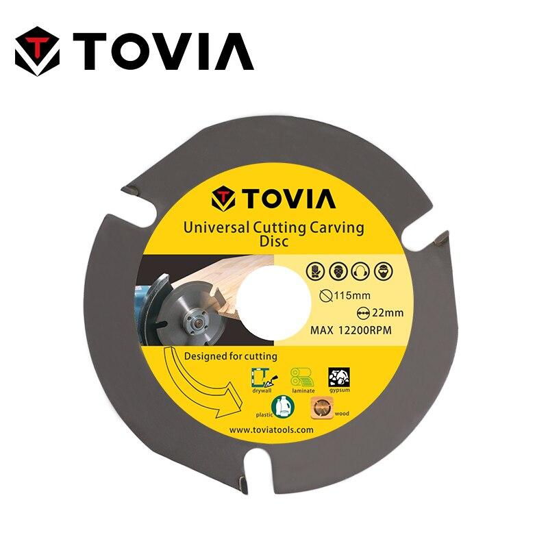 TOVIA 115mm Универсальный Пильный Диск по Дереву для УШМ 4.5inch 22.2mm по Газобетону Гипсокартону Пластику лезвия лезвие алмазный диск пилы для распи...