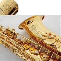 DHL Fedex Free Selmer 802 Gold Plated Alto Saxophone Brand France Henri Sax E Flat Musical