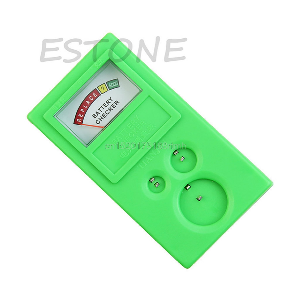 Free delivery Plastic Button Watch Repair Coin Cell Battery Power Checker Test Tester Tool 1 55v and 3v button cell battery checker battery tester green