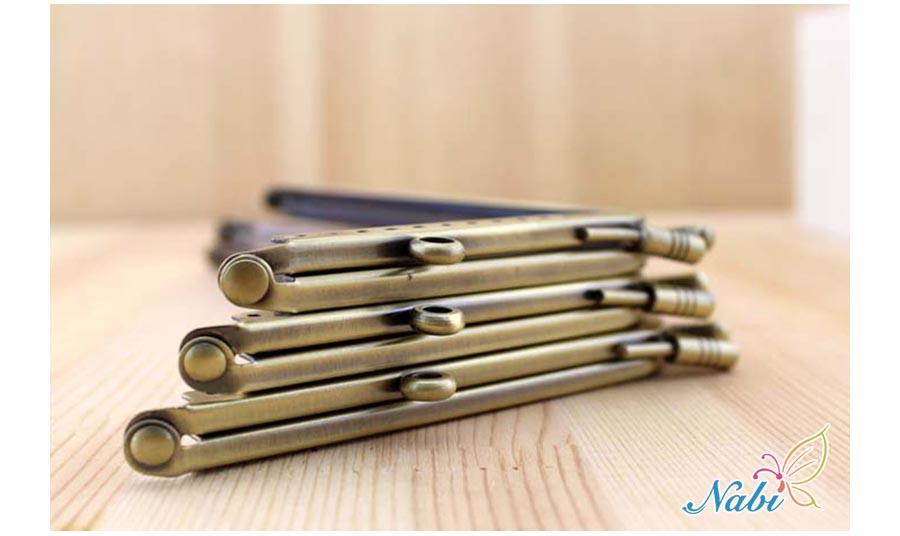 Nabi Smooth Coin Purse Frames Silver Purse Metal Frame Kiss Clasp DIY Sew Bags Clutch Accessories Sewing Handbag Handle