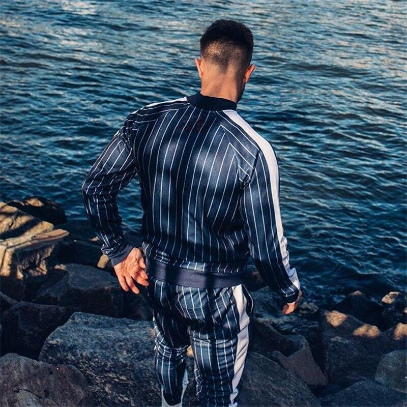 2020Men New Style Tracksuit Vertical Tracksuit Set Male Street Sweatpants Multi-pocket Fashion Trousers High Street Jackets Sets