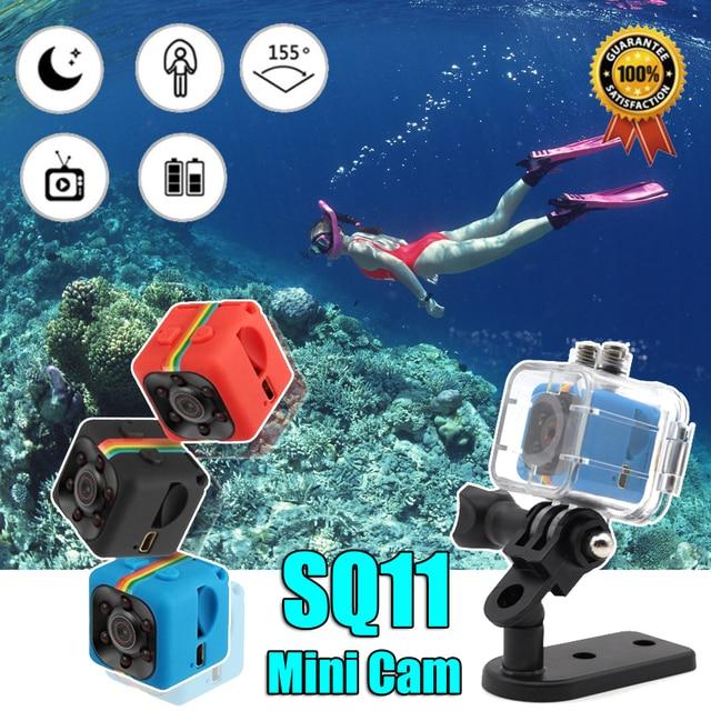 Original SQ11 Mini câmera À Prova D' Água caso grau lente grande-angular HD 1080 P Grande Angular SQ 11 Filmadora MINI esporte DVR video cam