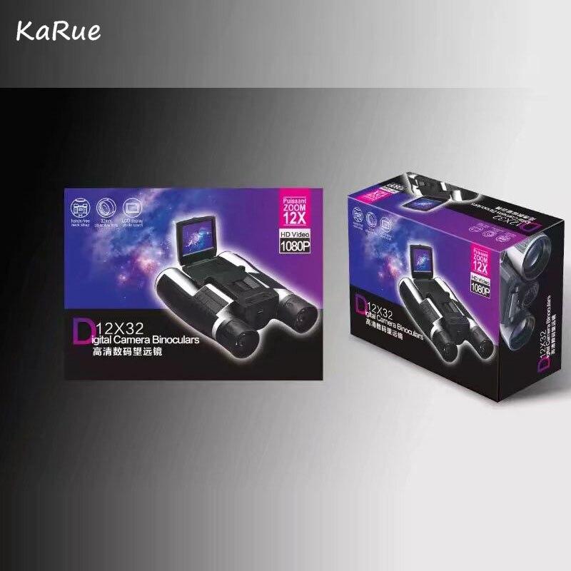 Karue Professional Digital Camera 12x32 HD Binocular Telescope New DV Video Camera 2.0 TFT HD 1080P 5MP ' TFT DisplayTelescope цифровая фотокамера 5 hd d3000 16 0mp 3 0 tft slr hd d3000 camera