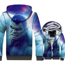 Hulk Jacket Super Hero 3D Print Hoodie Men Crossfit Hooded Sweatshirt Winter Thick Fleece Zip up Fitness Coat Hip Hop Streetwaer цена и фото