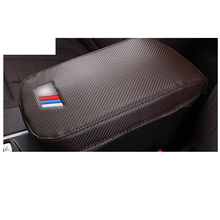 Lsrtw2017 Luxury Fiber Leather Car Central Armrest Box Cover for Bmw X3 X4 2018 2019 2020