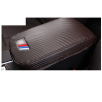Lsrtw2017 Luxury Fiber Leather Car Central Armrest Box Cover for Bmw X3 X4 2018 2019 2020
