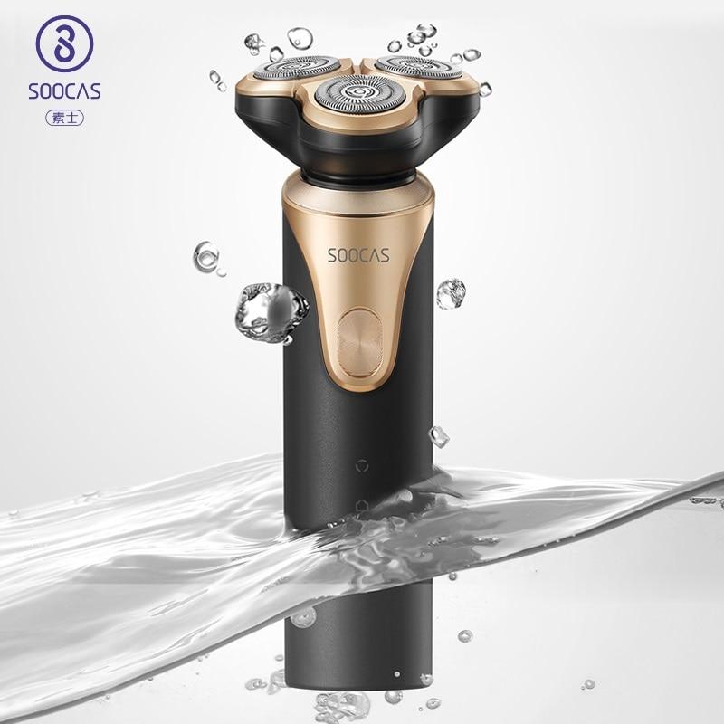 Soocas s3 면도기 전기 남성 면도기 전기 면도기 트리머 수염 ipx7 유형 c 충전식 트림 면도기 xiaomi-에서전기면도기부터 가전 제품 의  그룹 1