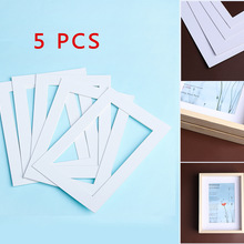 Photo-Mats Picture-Frames Textured-Surface White Passe Partout And Rectangle Paper