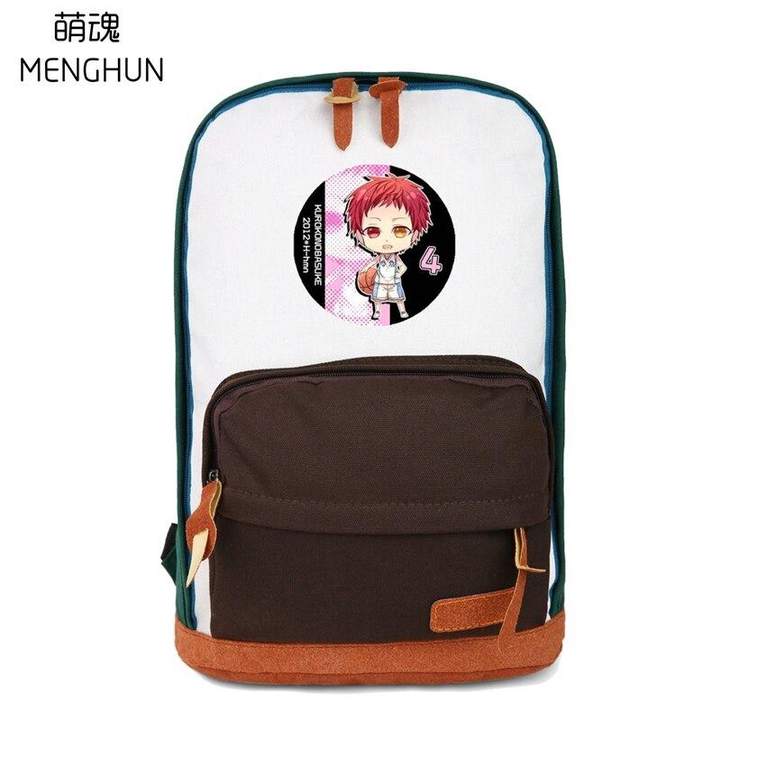 Lovely Kurokos basketball backpacks Kuroko no basuke backpacks for girls small backpack contrast color canvas bags NB217