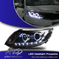 One-Stop Shopping Styling for Kia K2 Headlights 2011-2014 Rio LED Headlight DRL Lens Double Beam H7 HID Xenon Car Accessories