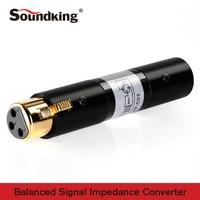 Soundking XLR(F) to XLR(M) Balanced Signal Impedance Converter high quality adapter of 600 ohm isolation transfomer C53