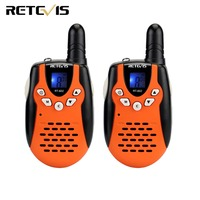 2pcs Kids Radio Walkie Talkie Retevis RT602 UHF 446MHz 0.5W Frequency Portable Flashlight VOX Rechargeable Battery A7120