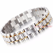 16mm Wrist Look ahead to Strap Silver Gold Stainless Metal Strap Bracelet With Folding Clasp Scorching Males Girls Jewellery