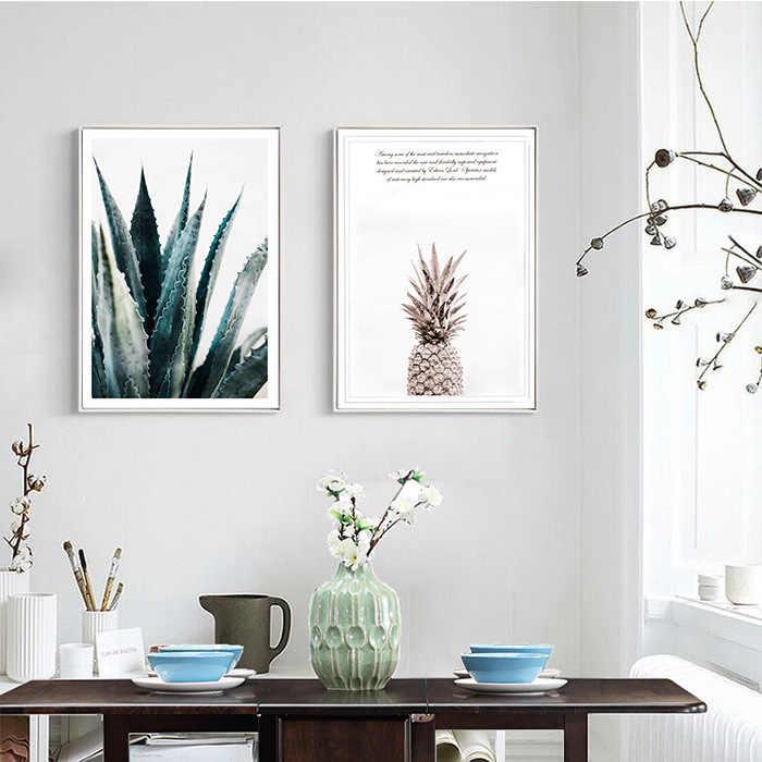 Nórdico Abacaxi Planta de Cópias Do Cartaz Arte Da Parede Pintura Cuadros HD Retrato Da Arte na Lona Decoração de Casa Sem Moldura 389