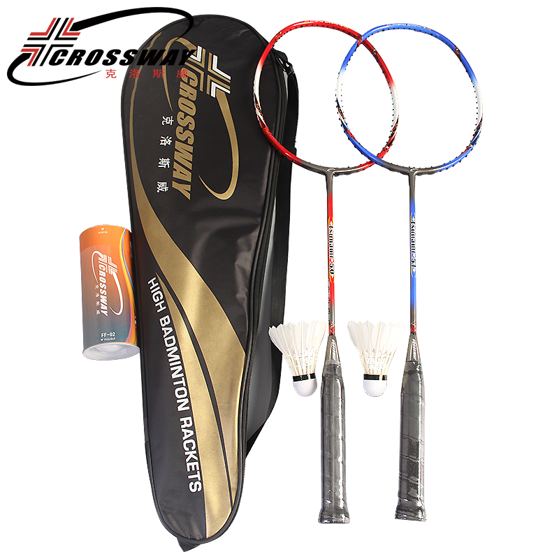 CROSSWAY 1PC badminton racket fitness training free shipping professional intermediate high quality outdoor indoor sports T50