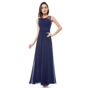 Image 4 - Ever Pretty Sexy Women Evening Dresses V Neck Sleeveless Backless A Line Slim Chiffon Long Navy Blue Evening Formal Party Dress