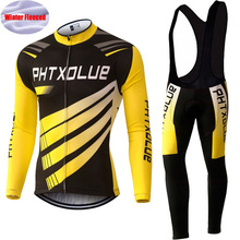 Phtxolue Autumn Winter Thermal Fleece Cycling Clothing Long Sets Bike Clothes Bicycle SportswearBicycle /Cycling Jerseys