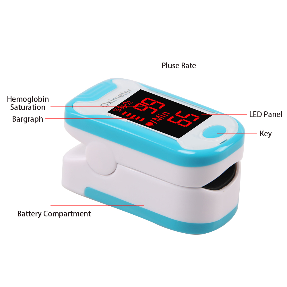 Medical Equipment Digital Finger Pulse Oximeter Saturometro Heartrate Monitor Portable LCD Oximetro de pulso de dedo Health Care