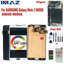 """IMAZ Orignal SUPER AMOLED 5.7 """"LCD สำหรับ Samsung Galaxy Note 3 N9005 N9000 N900 N900A จอแสดงผล LCD หน้าจอสัมผัส digitizer Assembly"""