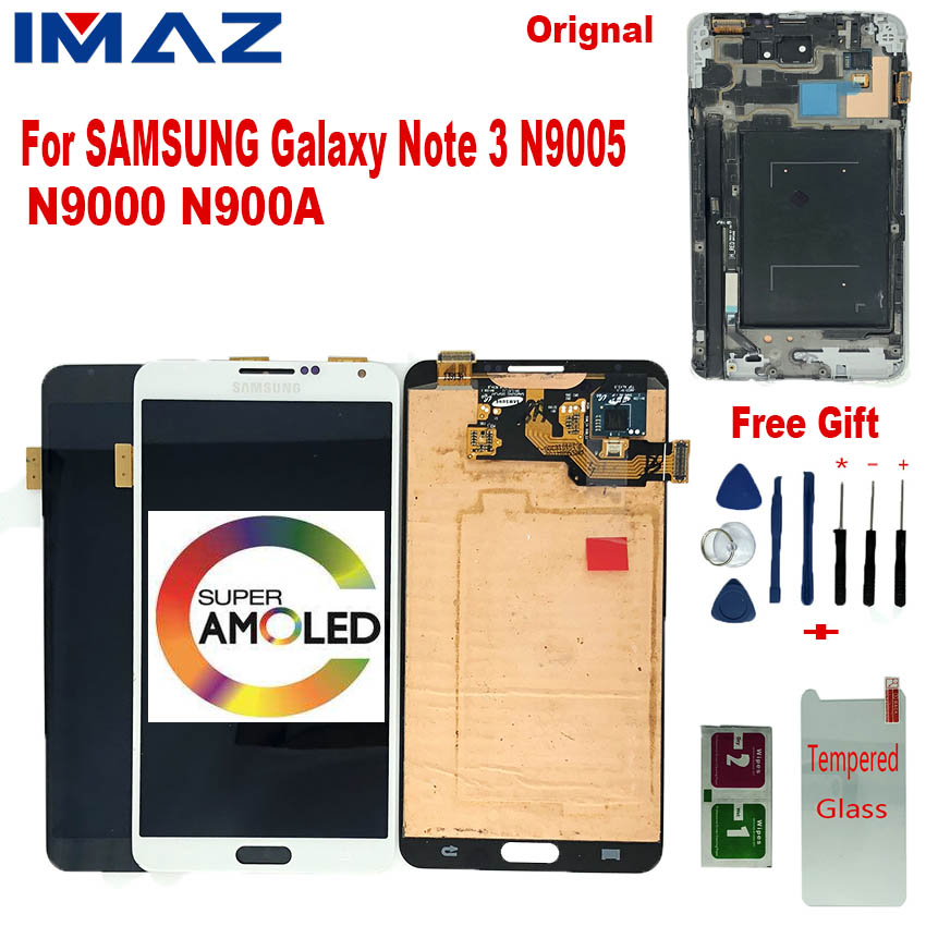 "IMAZ Orignal SUPER AMOLED 5.7"" <font><b>LCD</b></font> For Samsung Galaxy Note 3 N9005 <font><b>N9000</b></font> N900 N900A <font><b>LCD</b></font> Display Touch Screen Digitizer Assembly image"