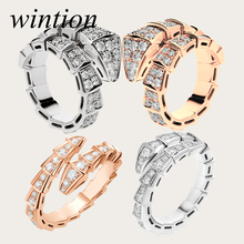 Wintion BGL Serpentine s925 ring gift 1:1 Original 100% 925 Sterling Silver Women rose gold Jewelry High-end Quality Gift Have logo