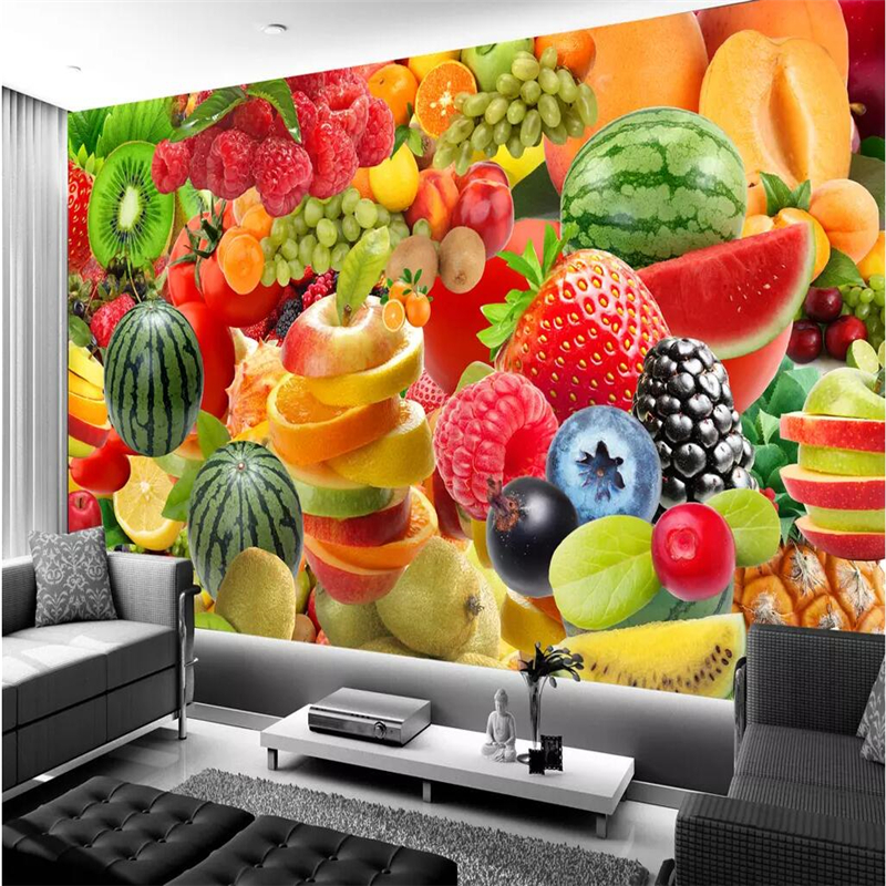 beibehang Wallpaper custom living room bedroom wallpaper mural modern minimalist fashion fruit tooling sofa background wall
