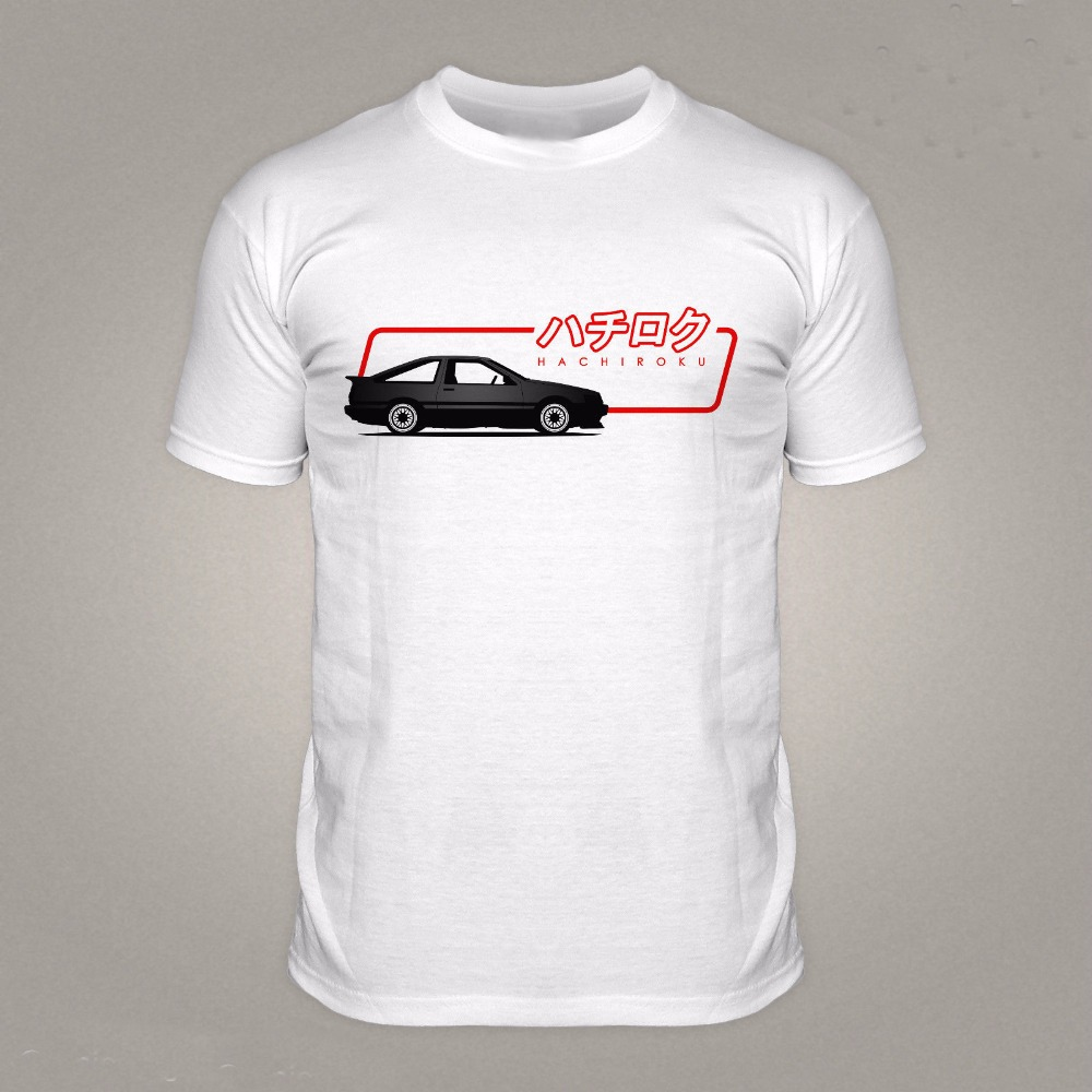 T shirt japanese design - 2017 Casual Men Popular Design Hip Hop Novelty T Shirts Men S Brand Clothing Ae86 Japanese Drift Car Custom Printed T Shirts