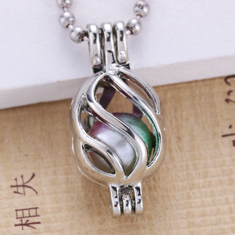 6pcs bright silver pearl cage jewelry making supplies beads cage 6pcs bright silver pearl cage jewelry making supplies beads cage pendant essential oil diffuser for oyster pearl in pendants from jewelry accessories on aloadofball Gallery