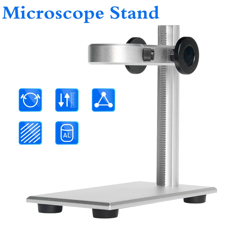 New Aluminium Alloy Stand Bracket Holder Microscope Bracket Portable USB Digital Electronic Table Microscopes