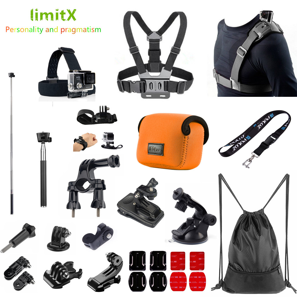 Case Strap Mount Sport Accessories Kit for Sony X3000 X1000 AS300 AS200 AS100 AS50 AS30 AS20