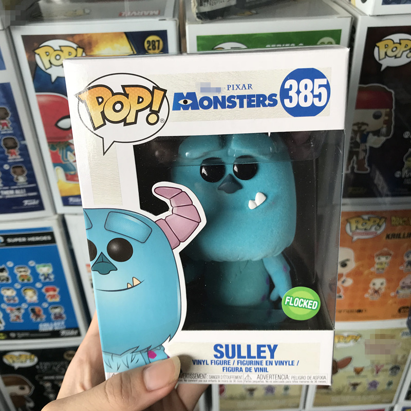 Exclusive Funko pop Official Monsters University - Sulley Flocked Vinyl Action Figure Collectible Model Toy with Original Box