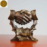 Старинные Бронзовые Искусств и Ремесел Бронзовый украшения стол открытия подарки медные украшения ремесла